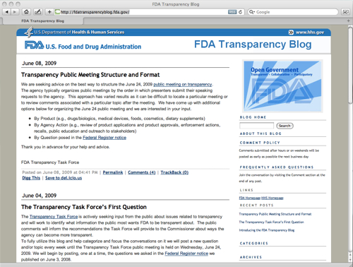FDA Transparency Blog