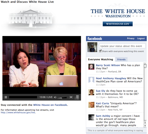 White House Live on Facebook-2